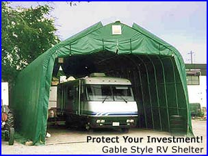 RV Garages, Motor home awnings, travel trailer covers